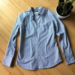 J crew Kathryn slim fit blue striped blouse
